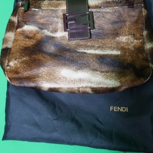 FENDI Pony Hair Shoulder Bag- AUTHENTICATE